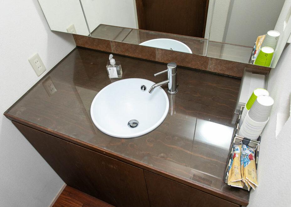長谷壱番館のお風呂・洗面所