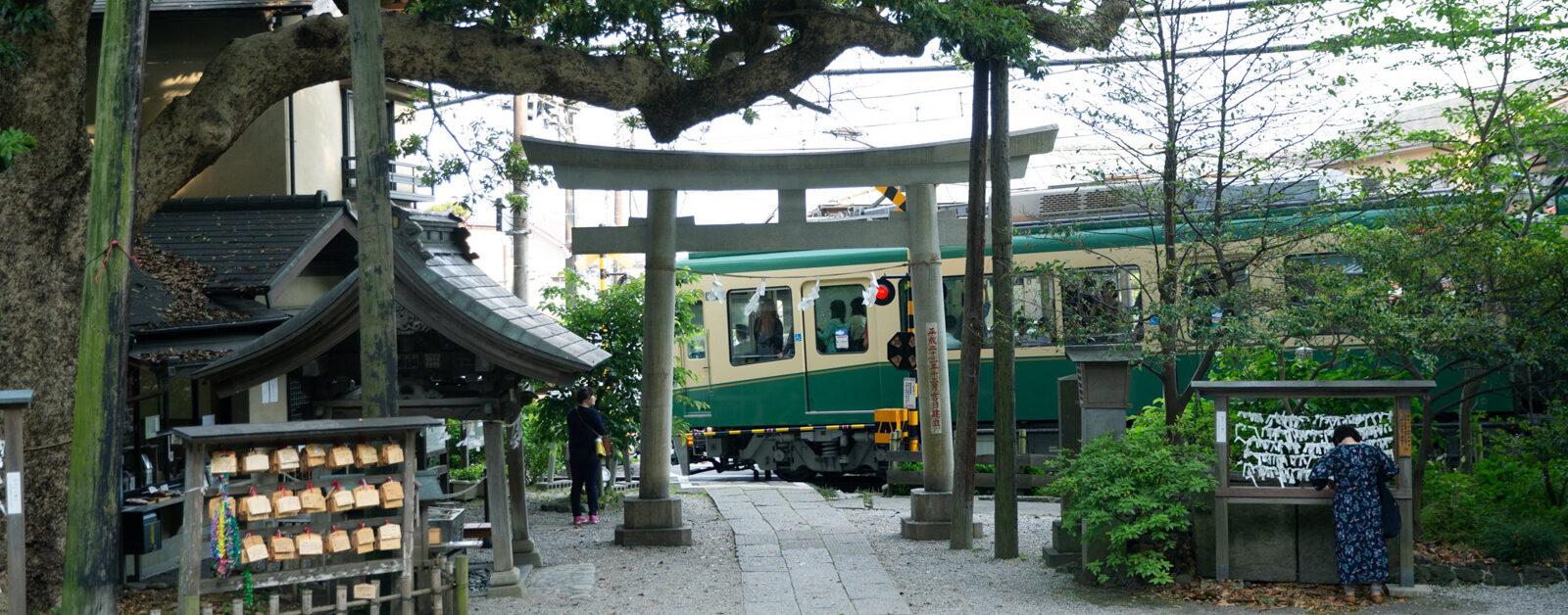 鎌倉坂の下の江ノ電1